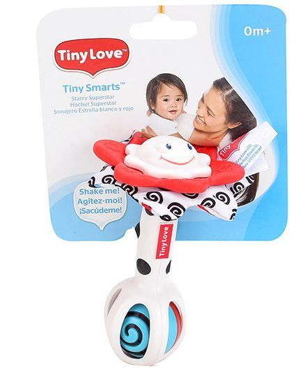 Tiny Love Starry Superstar Rattle - White And Red