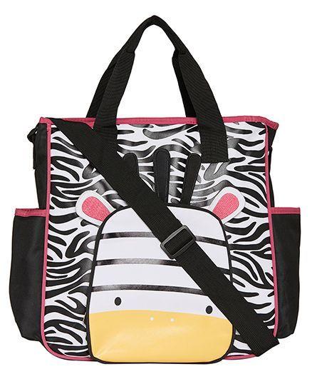 EZ Life Zebra Print Baby Diaper Carry Bag - Black & White