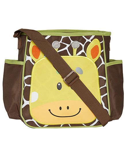 EZ Life Giraffe Stripe Baby Diaper Carry Bag - Brown & Yellow
