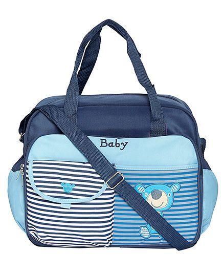 EZ Life Stripes Large Diaper Carry Bag - Blue