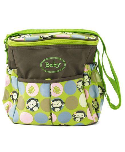 EZ Life Happy Monkey Diaper Carry Bag - Green