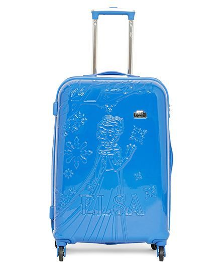 Disney Gamme Frozen Emboss Kids Luggage Trolley Bag Blue - 24 Inches
