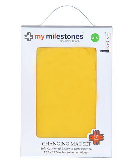 My Milestones Changing Mat Yellow - Set Of 2