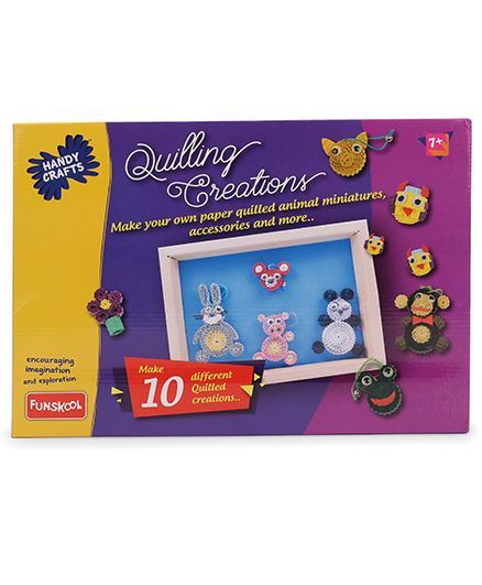 Funskool Quilling Creations - Multicolor