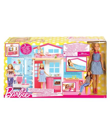 Barbie Two Story House & Doll Multicolour Online India, Buy Dolls ...