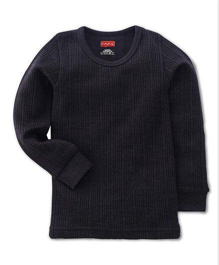 Babyhug Full Sleeves Pullover Thermal Vest - Dark Grey