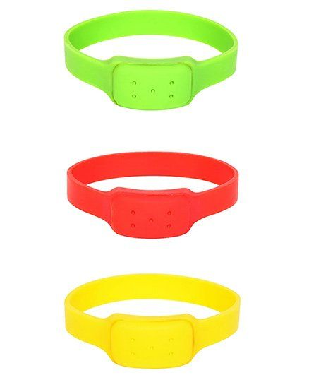 Safe-O-Kid Watch Style Mosquito Repellent Band Pack Of 3 - Multicolor