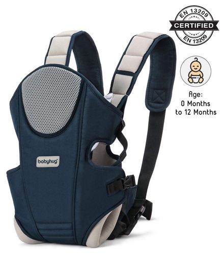 Babyhug First Blossom 3 In 1 Baby Carrier - Navy Blue