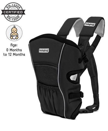 Babyhug Embrace 2 in 1 Baby Carrier - Black