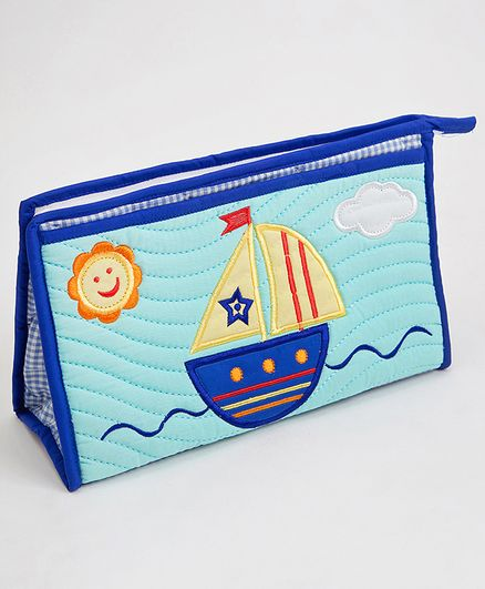 fa358d1c3e Blooming Buds Sailboat Printed Toiletry Bag Blue Online in India