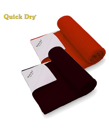 Quick Dry Bed Protector Twin Pack Small - Maroon & Toffee