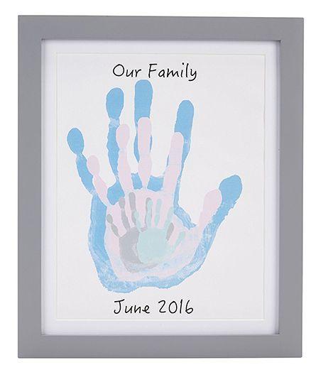 Pearhead Family Handprints Frame - Grey