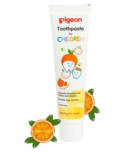 Pigeon Children Toothpaste Orange Flavor 45 Gm Color May Vary