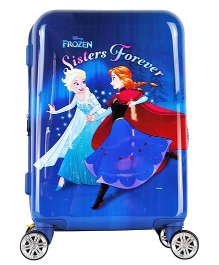 Disney Frozen Kids Luggage Trolley Bag Navy Blue - 20 Inches