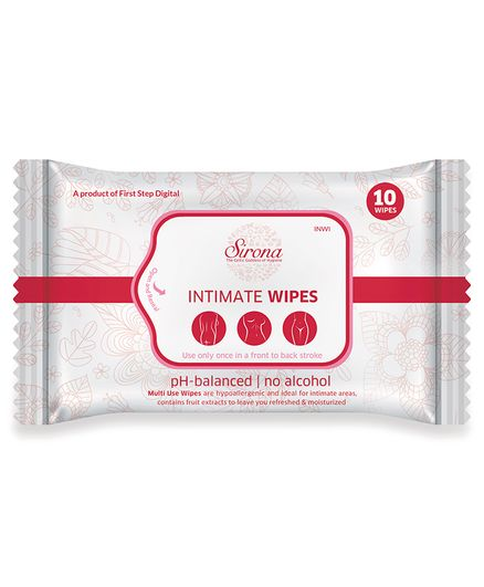 Intimate Wet Wipes by Sirona Pack Of 1 - 10 Pieces