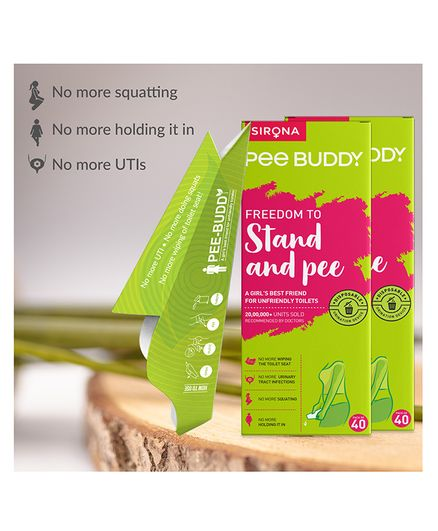 PeeBuddy Disposable, Portable Female Urination Device for Women 80 Funnel - 2 Packs