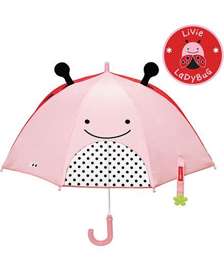 Skip Hop Little Kid And Toddler Umbrella Zoo Ladybug - Pink