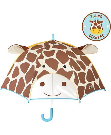 Skip Hop Little Kid And Toddler Umbrella Zoo Giraffe Design - Brown