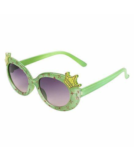 Miss Diva Double Crown Design Sunglasses - Green