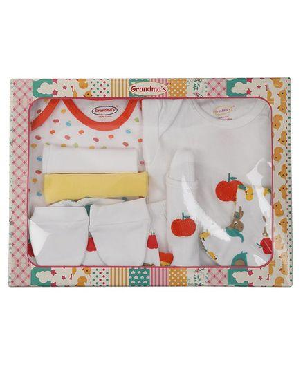 Grandma's Newborn Clothing Gift Set Box Pack of 10 - White