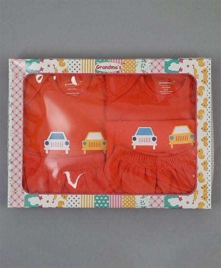Grandma's Clothing Gift Set Box Pack of 5 - Orange