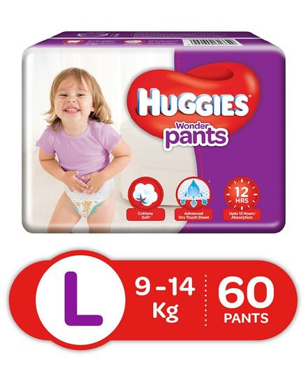 Huggies Wonder Pants Large Size Pant Style Diapers - 60 Pieces