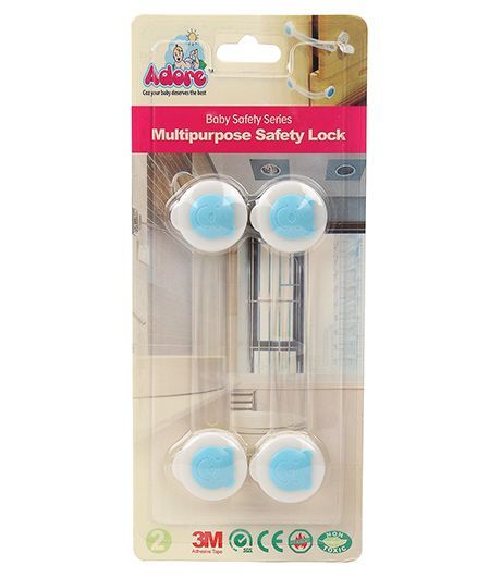 Adore Baby Multipurpose Safety Lock Pack of 2 Blue - 16 cm