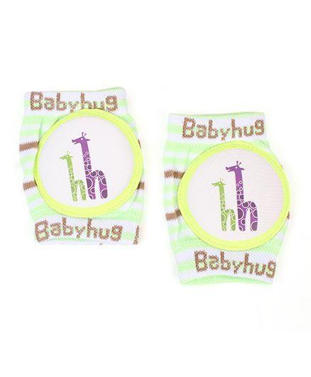 Babyhug Baby Knee Pads Giraffe Print - Green White