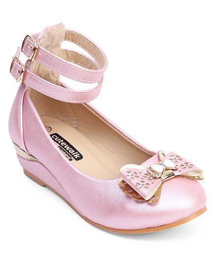 Cute Walk by Babyhug Bellies Bow Applique - Pink