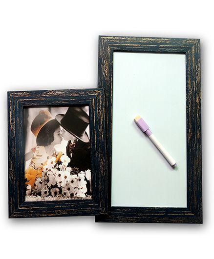 EZ Life Photo Holder & White Board Planner - Black
