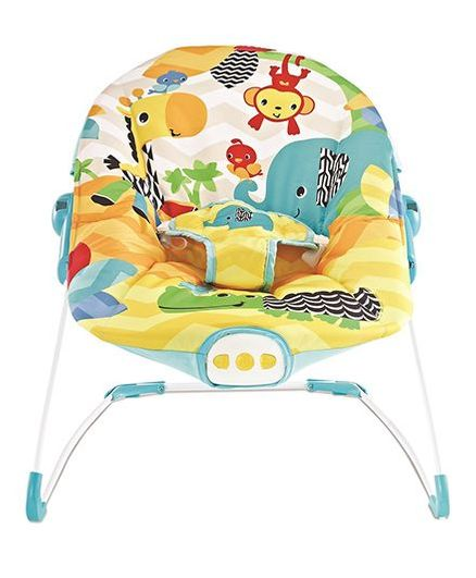 8022a35790 Flyers Bay Fiddle Diddle Baby Bouncer Cum Rocker Elephant Print - Yellow
