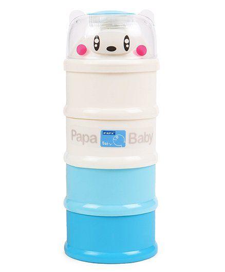 Papa Milk Container - Blue White