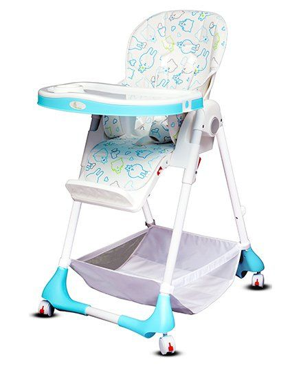 R for Rabbit Marshmallow The Smart High Chair - White & Blue