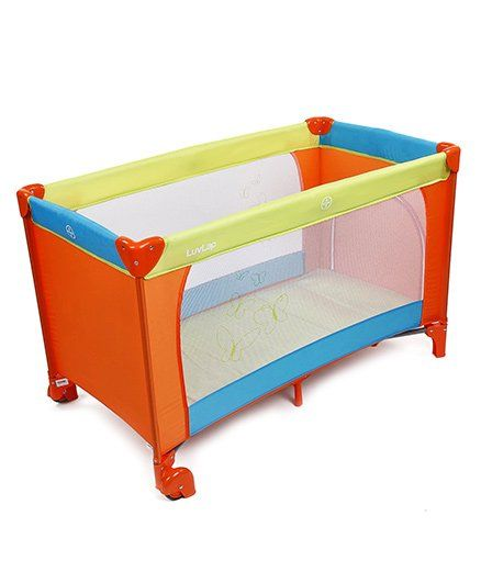 LuvLap Baby Playpen Sunshine   Orange Green U0026 Blue