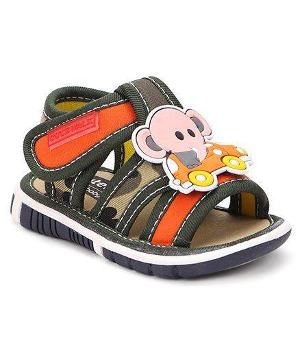 f94eb3508ddec2 Buy Cute Walk by Babyhug Sandals Elephant Motif Green for Boys (1 ...