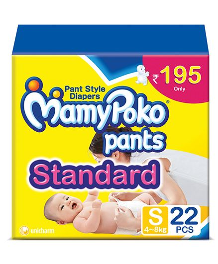 Mamy Poko Pants Standard Pant Style Baby S Diapers (22 Pieces)