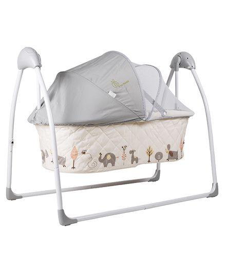 R for Rabbit Lullabies The Auto Swing Baby Cradle - Cream