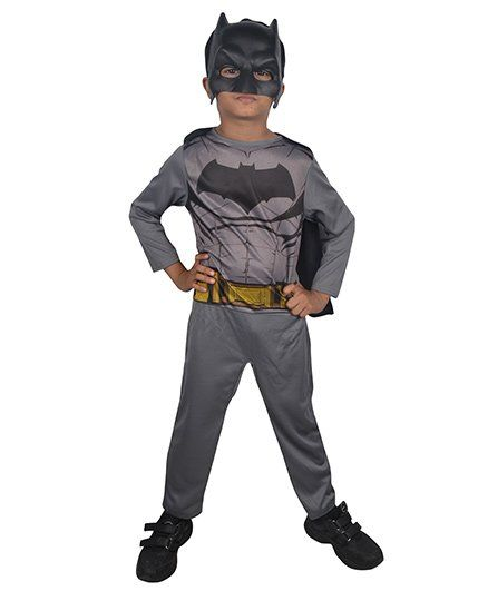 DC Comics Batman Action Suit With Mask - Grey
