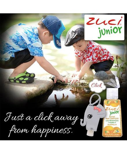 Zuci Junior Hand Sanitizer And Elephant Bag Tag 30 ml (Flavors May Vary)