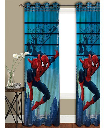 Athom Trendz Marvel Spider Man Long Door Curtain MAR-412-LC1 - Blue Red