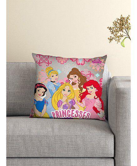 Athom Trendz Disney Princess Cushion With Cover DIS-10-3-D36-FL-M - Pink