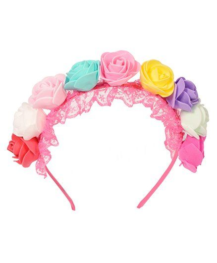 Miss Diva Multi Flower Beautiful Hair Band Multicolor for Girls (2-8 ... 4061dffb8e6