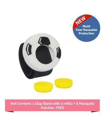 Safe-O-Kid Football Anti Mosquito Slap Wristband - Black White