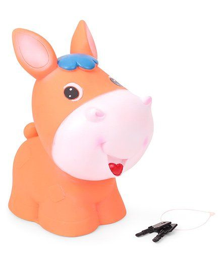 Ratnas Pony Bank With Keys - Orange