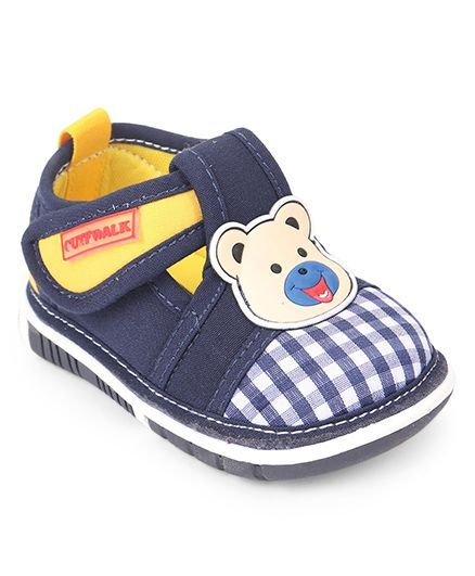 Cute Walk by Babyhug Shoes With Bear Motif - Blue