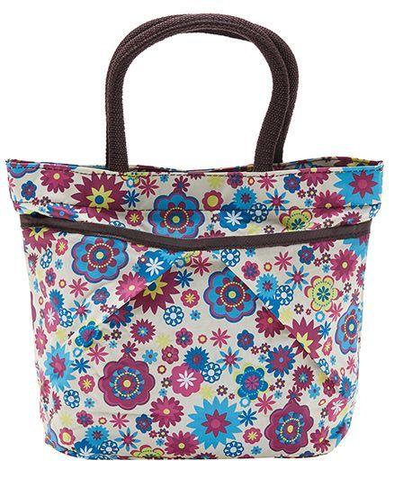 EZ Life Cute Floral Print Carry Bag - Blue