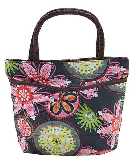 EZ Life Floral Print Carry Bag - Black