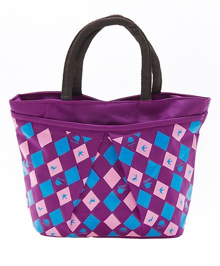 EZ Life Checquered Printcarry Bag - Purple