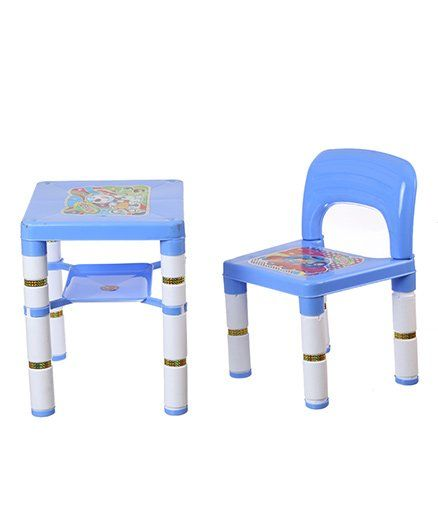 NHR Portable Learning Kids Table & Chair Set - Blue