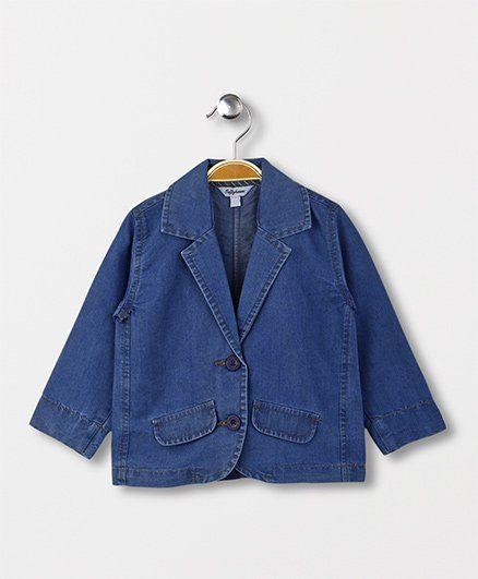ToffyHouse Full Sleeves Denim Jacket - Blue